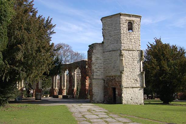Holy Ghost Chapel ruins, Basingstoke stock photo