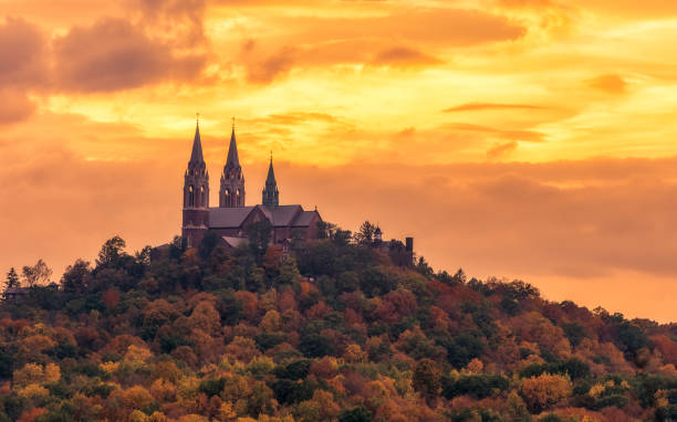 Holy Hill at sunset Holy Hill at sunset milwaukee wisconsin stock pictures, royalty-free photos & images
