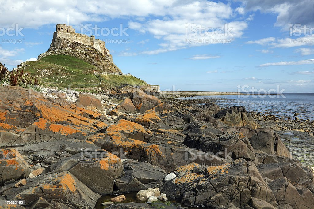 Holy Island of Lindisfarne stock photo