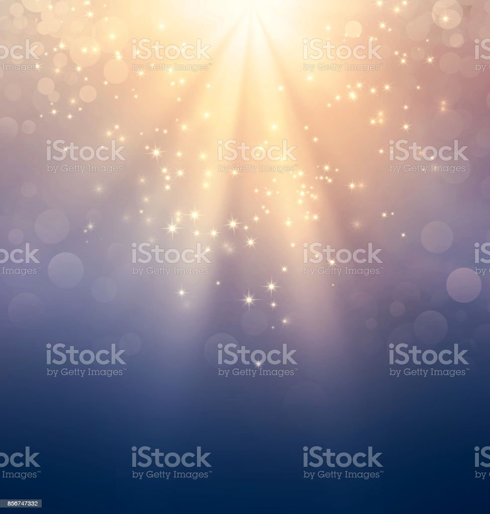 Holy light on gold stock photo