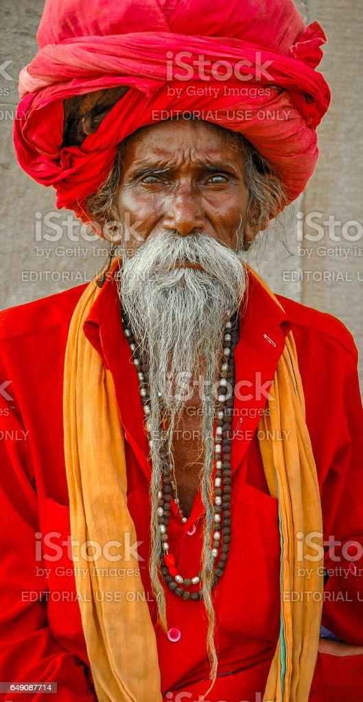 Holy Man, Varanasi, India stock photo