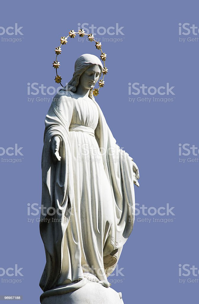 Holy Mary Statue royalty-free stock photo