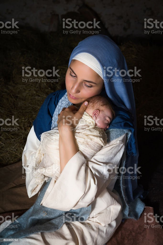Holy motherhood stock photo
