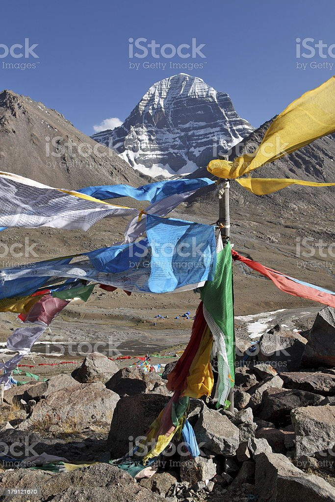 Holy Mount Kailash in Tibet royalty-free stock photo