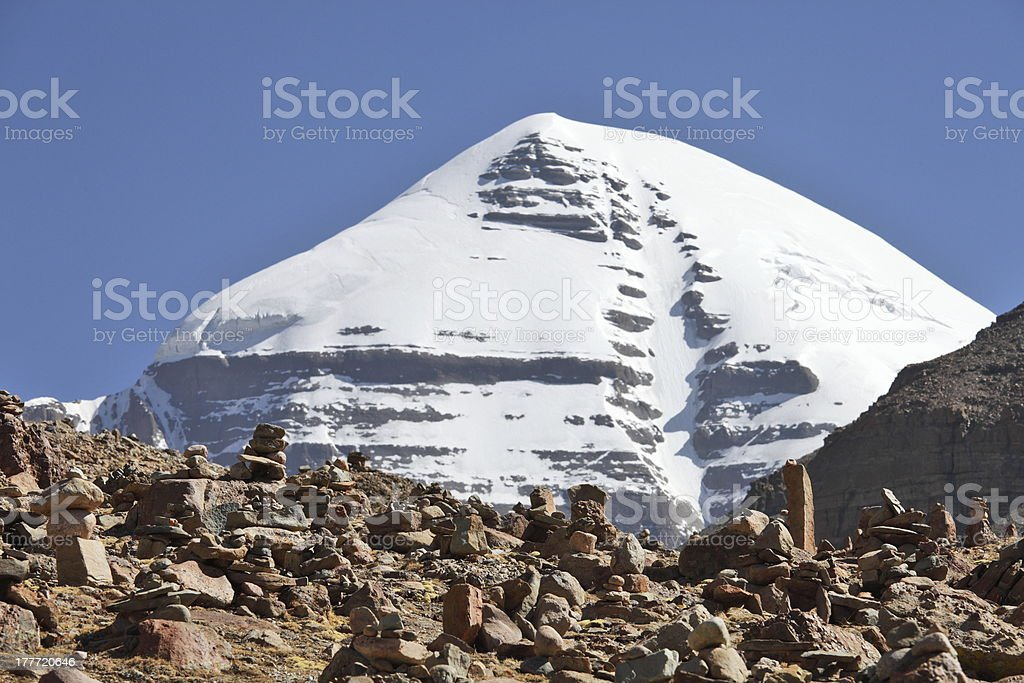 Holy Mount Kailash royalty-free stock photo