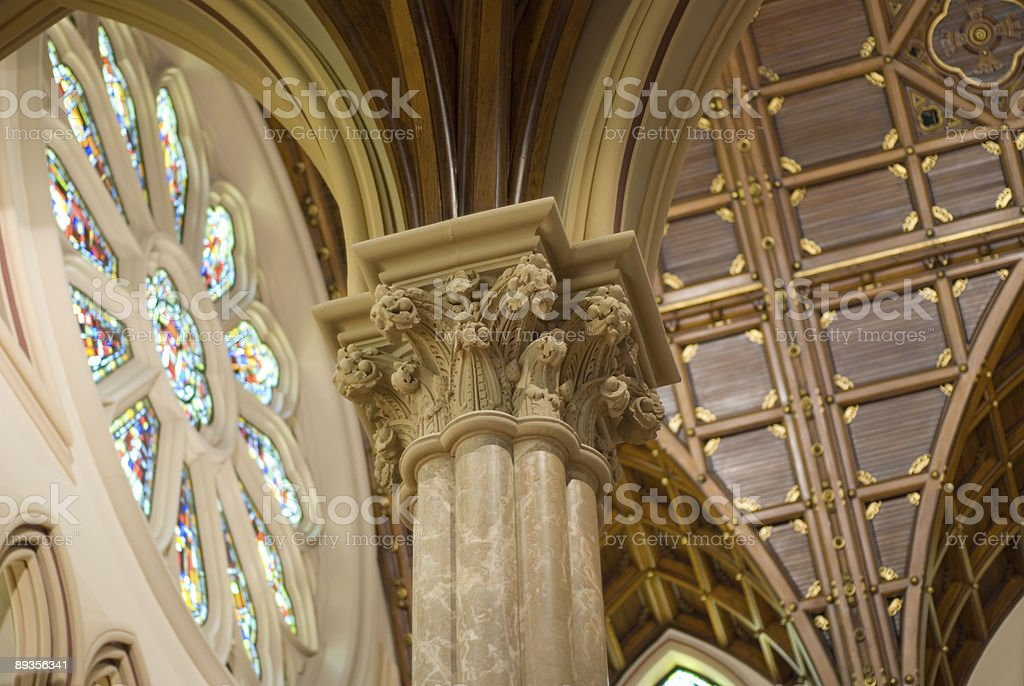 Holy Name Cathedral stock photo