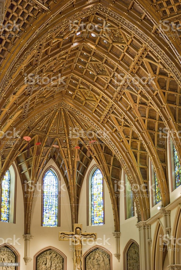 Holy Name Cathedral royalty-free stock photo
