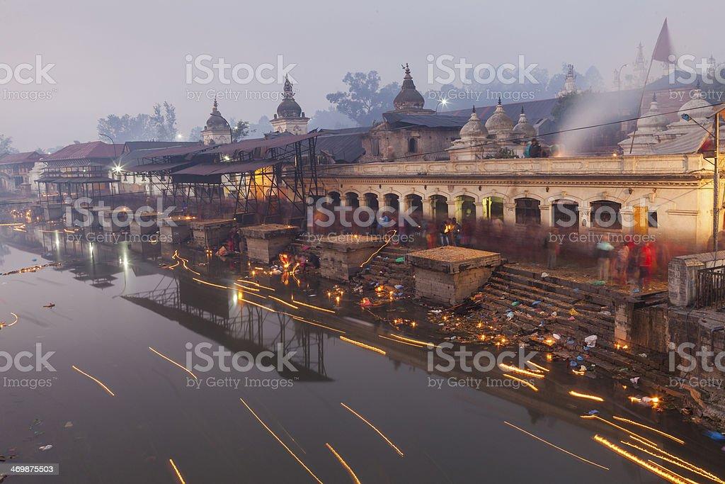 Holy Pashupatinath In Kathmandu Nepal. stock photo