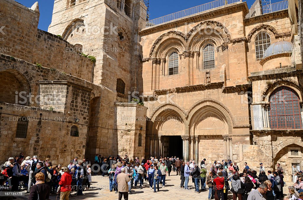 Holy Sepulchre Church in Jerusalem stock photo
