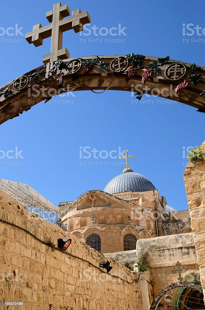 Holy Sepulchre in Jerusalem stock photo