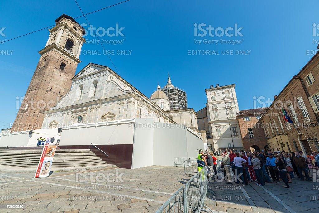 2015 Holy Shroud Exhibition in Torino stock photo