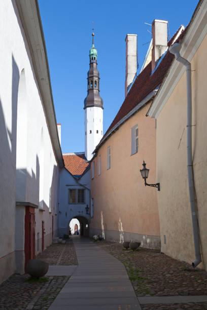 Holy Spirit Church in Tallinn stock photo