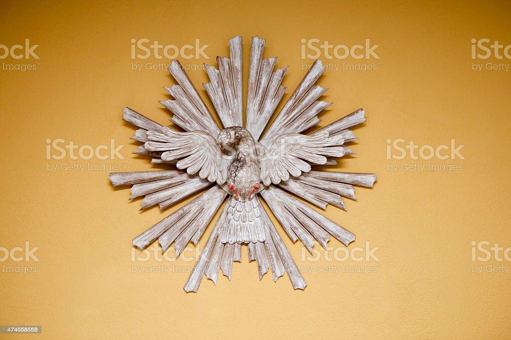 holy spirit saint dove with yellow background 9567 stock photo