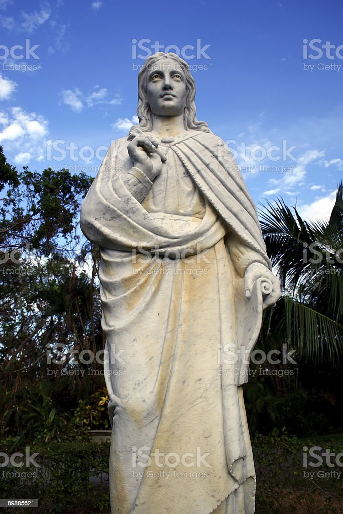 Holy Statue Body Shot royalty-free stock photo