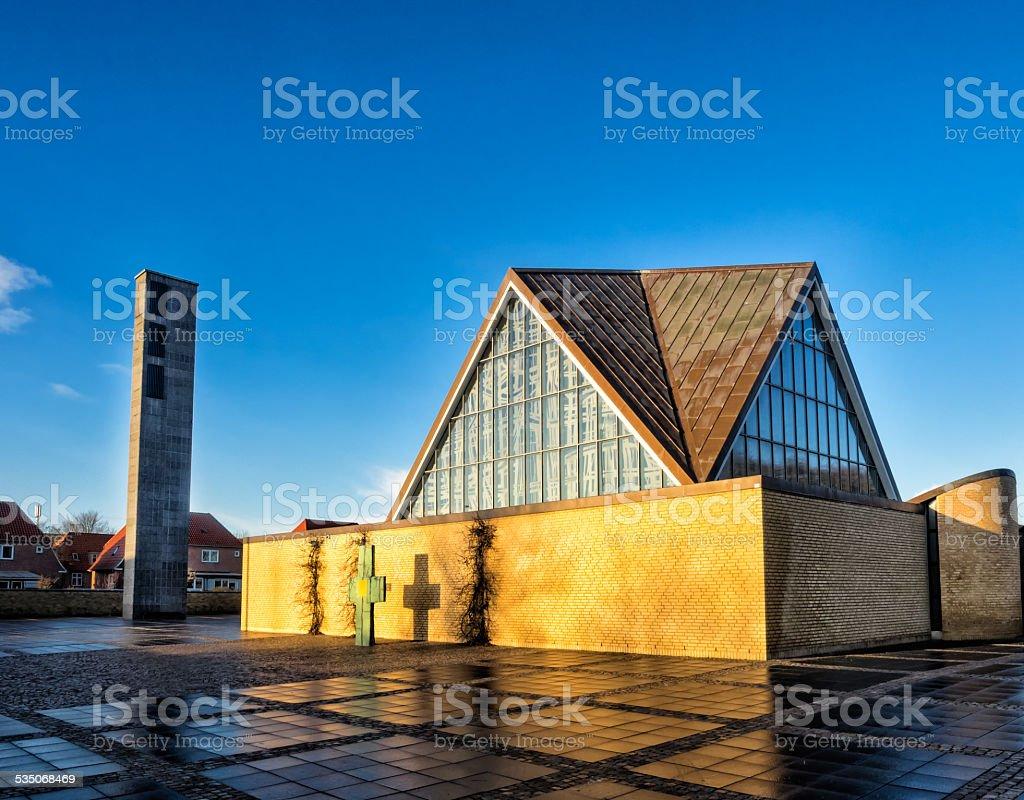 Holy trinity church, Esbjerg in Denmark stock photo