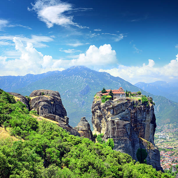 Holy Trinity Monastery Monastery of the Holy Trinity (1475-76), Meteora, Greece. The monastery was featured in the 1981 James Bond film,