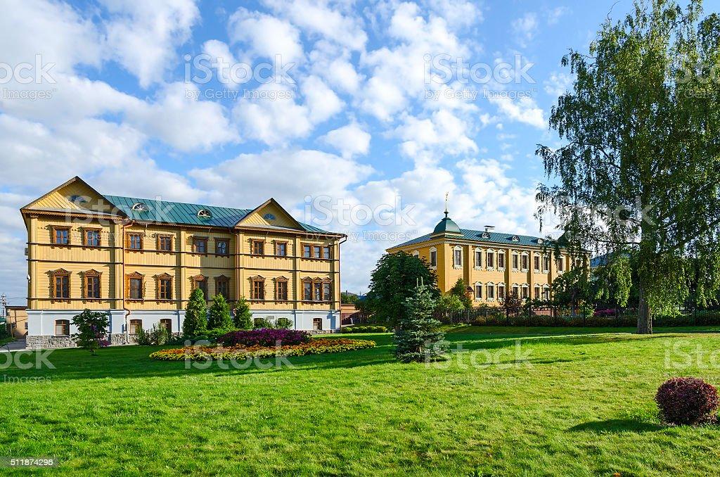 Holy Trinity Seraphim-Diveevo monastery, village of Diveevo, Russia stock photo