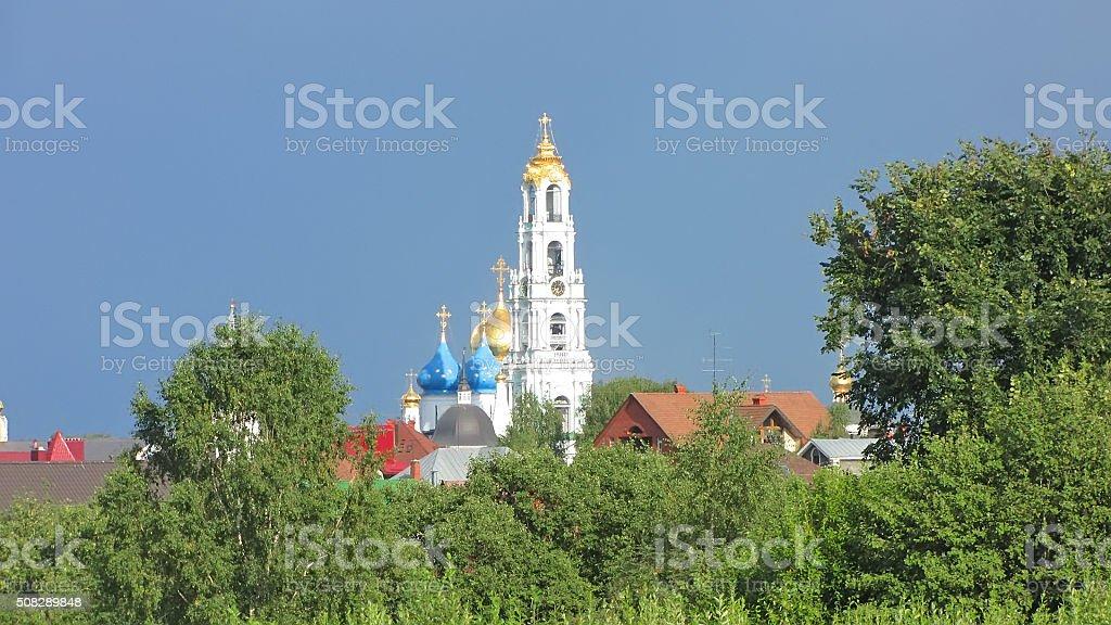 Holy Trinity Sergius Лавра. Сергиевому Посаду. Московская область стоковое фото
