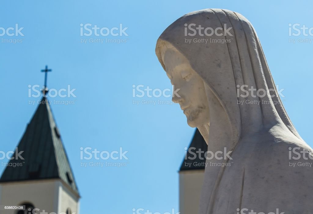 Holy Virgin Marry statue, Medugorje, Bosnia and Herzegovina stock photo