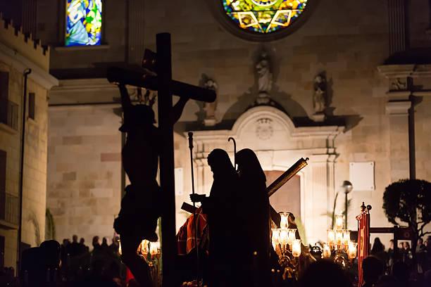 holy week in badalona, spain - easter procession spain bildbanksfoton och bilder