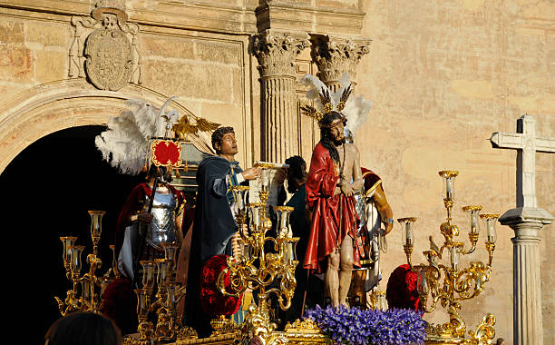 holy week in granada,spain - easter procession spain bildbanksfoton och bilder