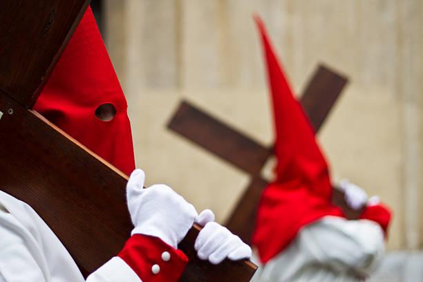 holy week in guadalajara - spain - easter procession spain bildbanksfoton och bilder