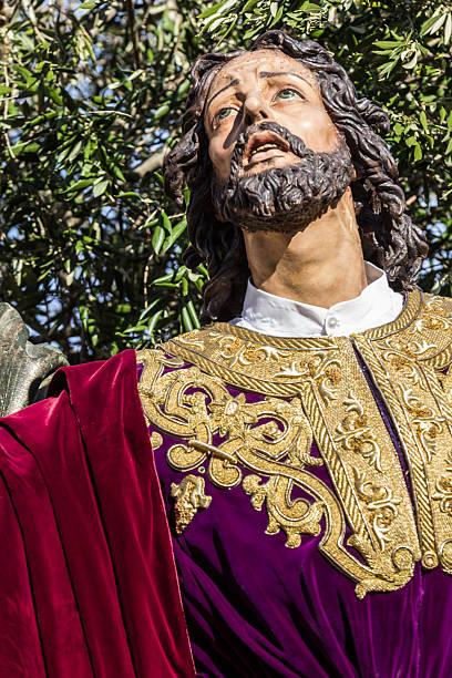 holy week in san fernando, cadiz, spain. - easter procession spain bildbanksfoton och bilder