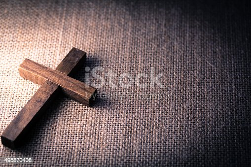 istock Holy Wooden Christian Cross 495870408