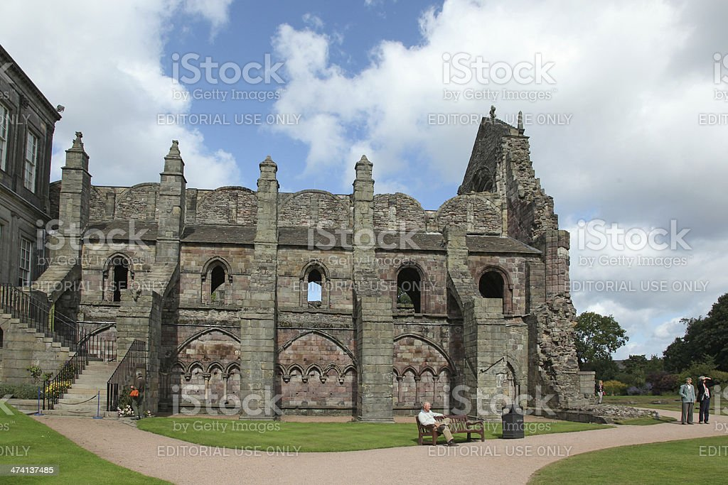 Holyrood Abbey Ruins, Edinburgh stock photo