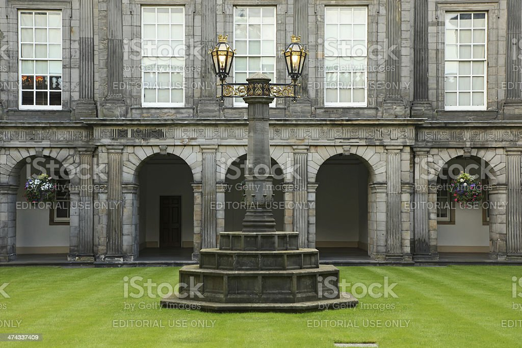 Holyrood Palace Edinburgh in Scotland - Inside details stock photo