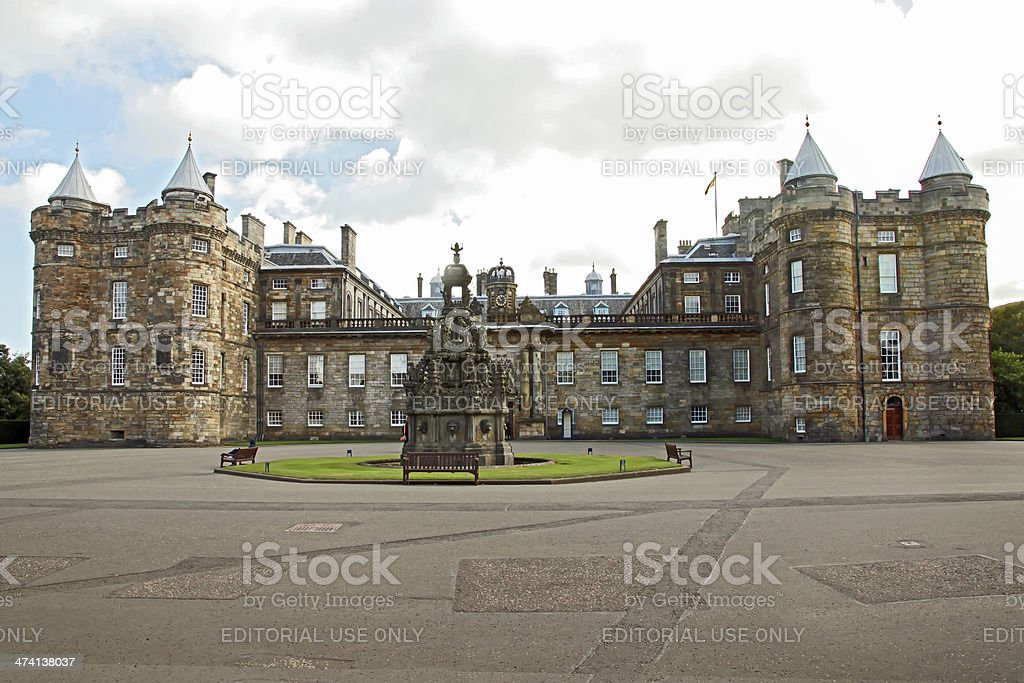 Holyrood Palace Edinburgh in Scotland stock photo