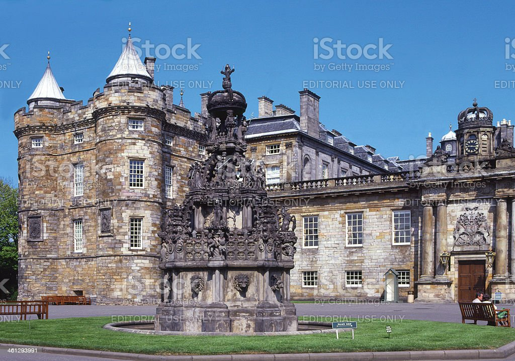 Holyrood Palace Edinburgh Scotland stock photo