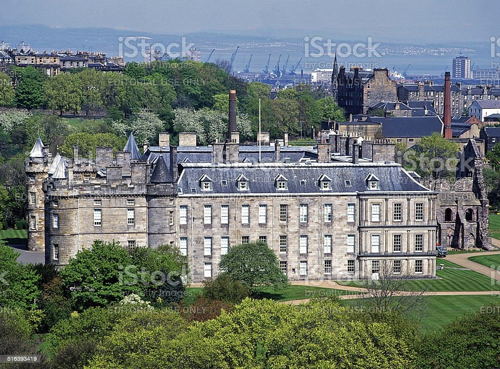 Holyrood Palace, Edinburgh Scotland stock photo