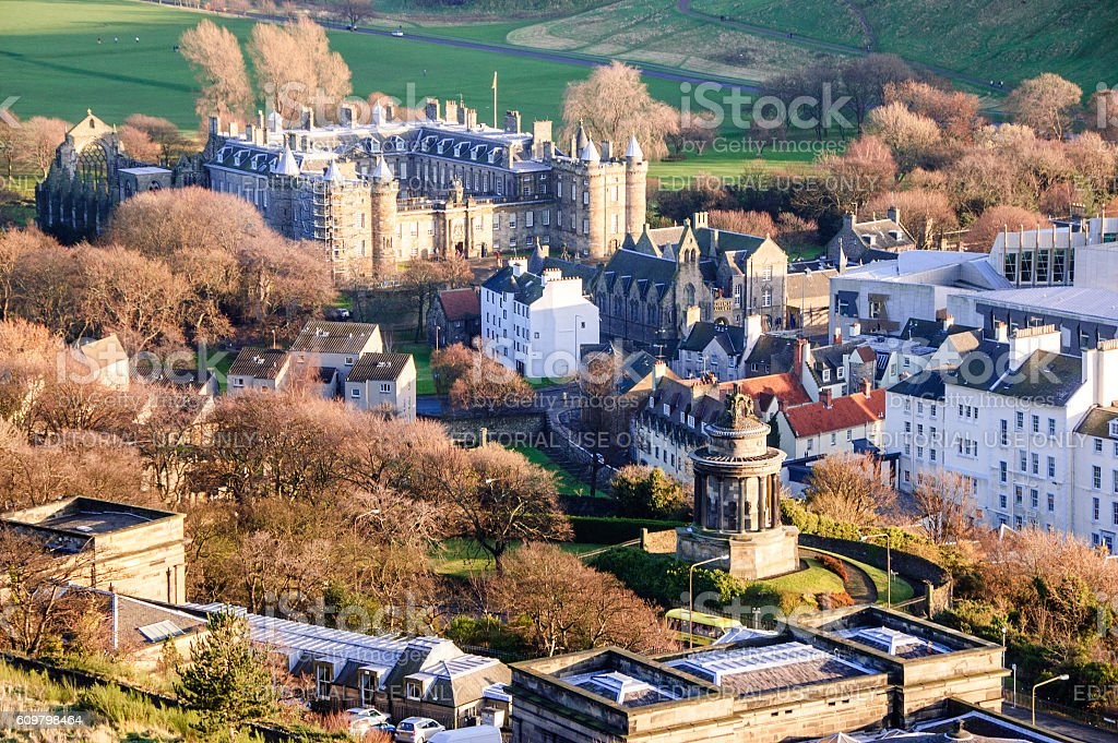 Holyrood Palace stock photo