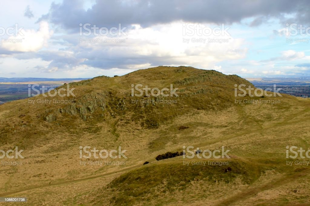 Holyrood Park - Edinburgh, Scotland stock photo