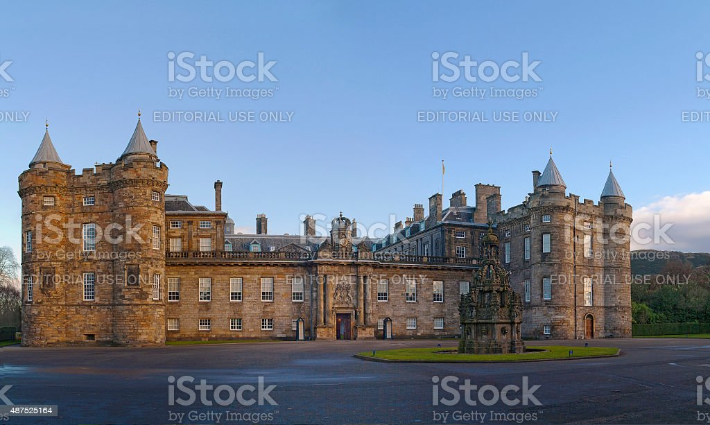 Holyroodhouse in Edinburgh stock photo
