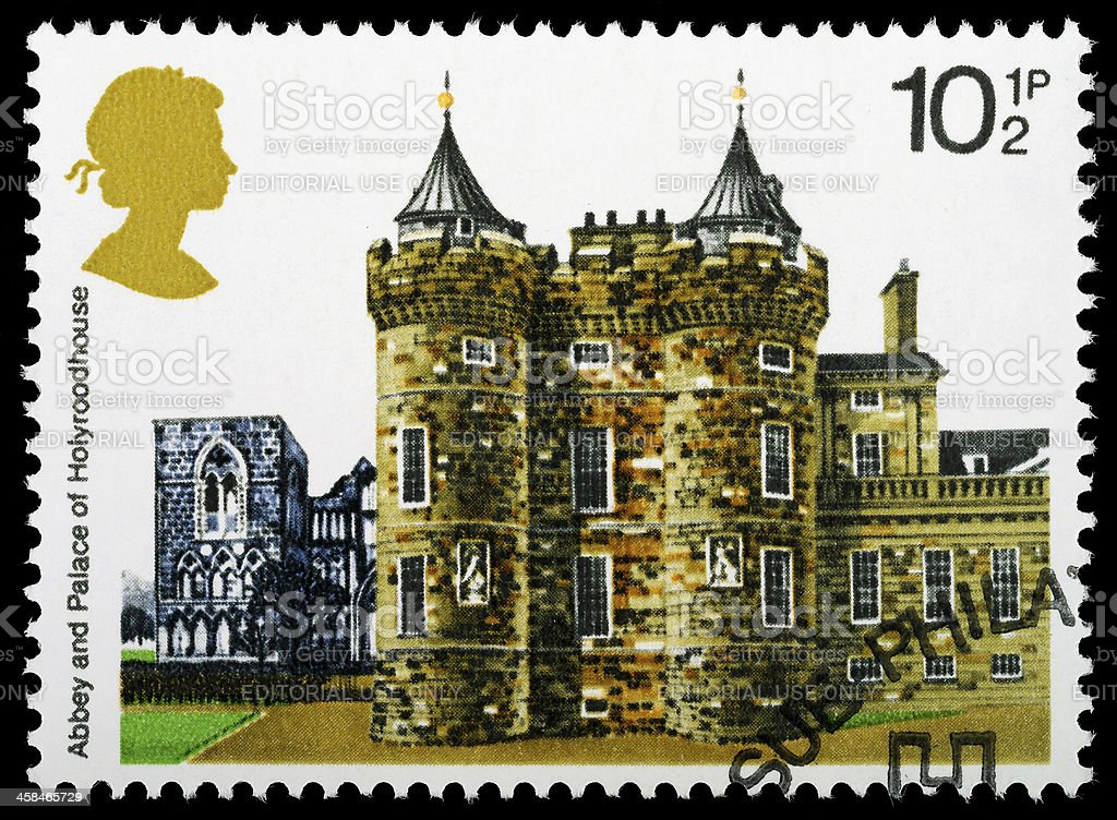 Holyroodhouse Postage Stamp royalty-free stock photo