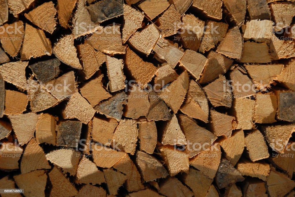 Holz - Brennholz - Baumstamm - Deutschland 免版稅 stock photo