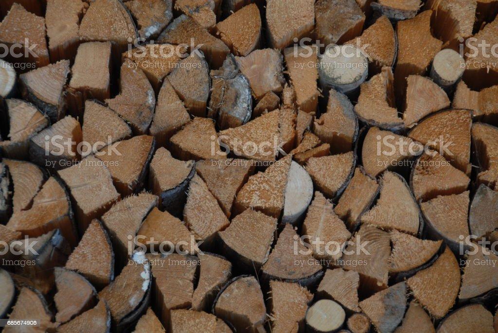 Holz - Brennholz - Baumstamm - Deutschland Lizenzfreies stock-foto