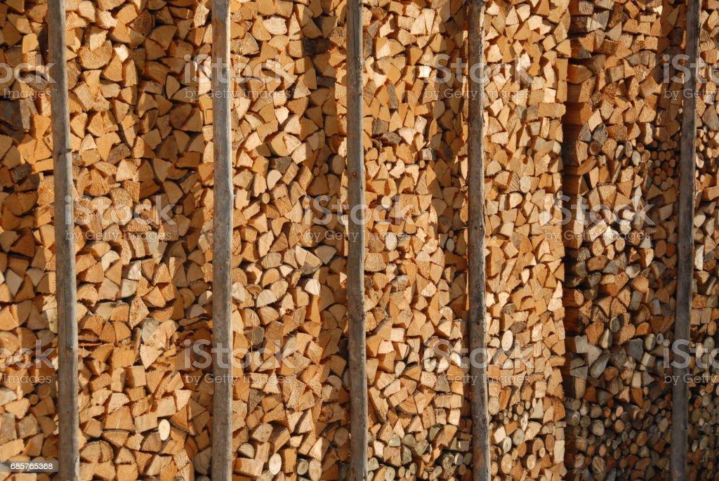 Holz - Brennholz - Baumstamm - Deutschland foto stock royalty-free