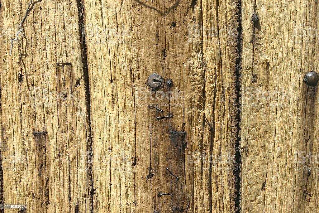 Holzbretter mit Nägeln royalty-free stock photo