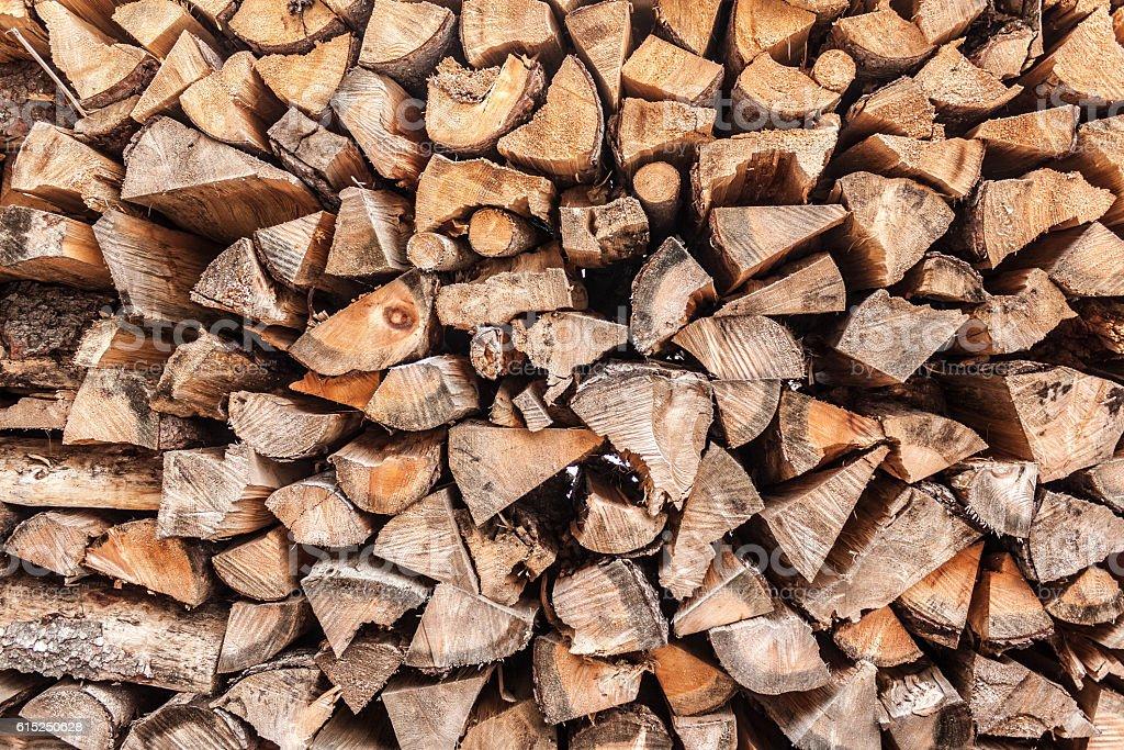 Holzscheite über die gesamte Fläche stock photo
