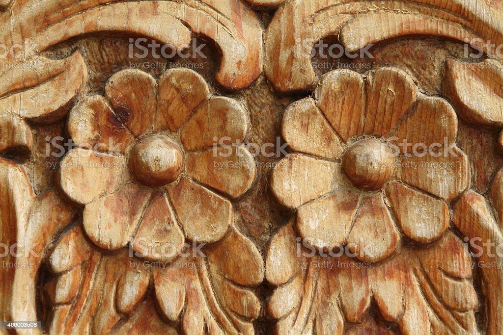 Holzschnitzerei stock photo