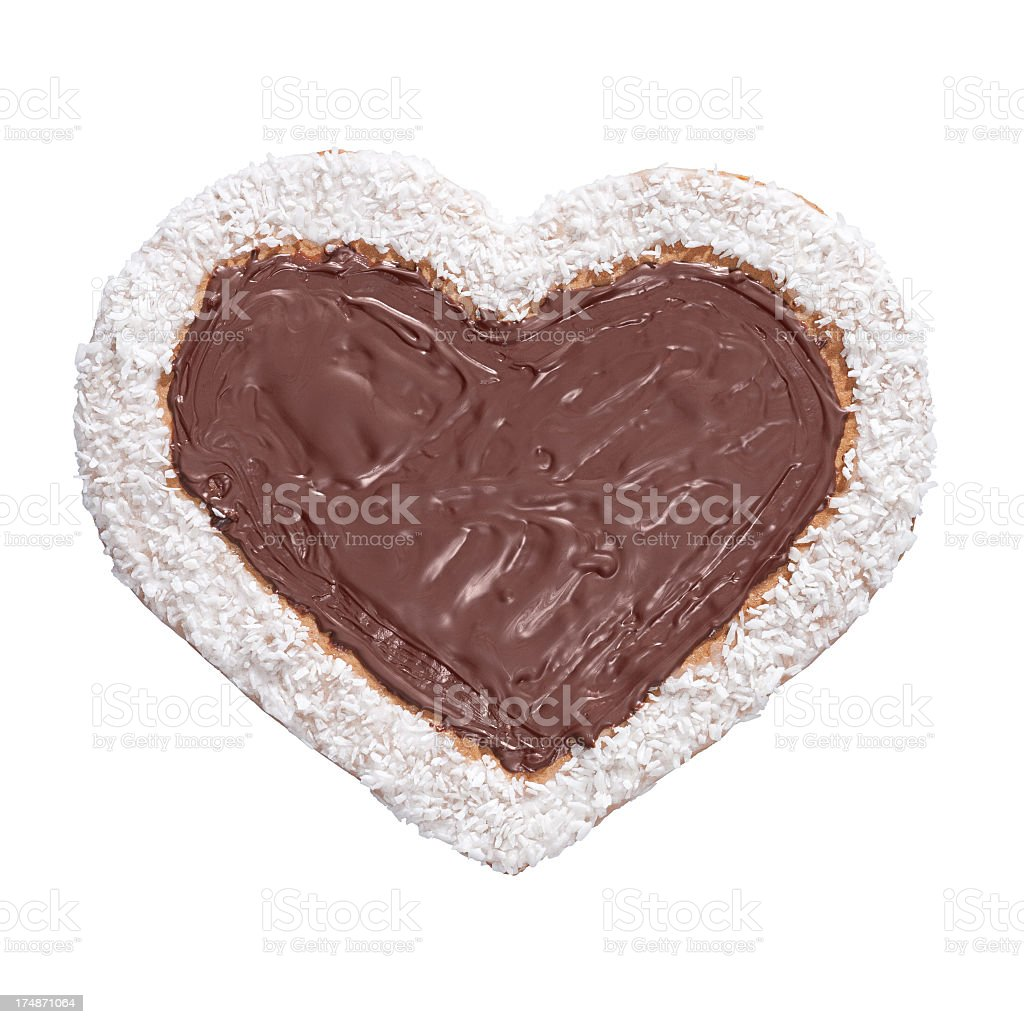 Homade chocolate heart royalty-free stock photo