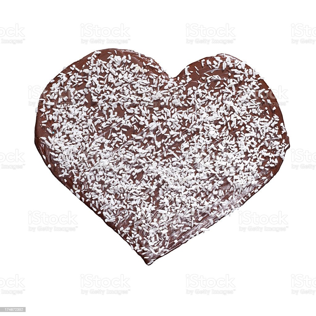 Homade chocolate heart royalty-free stock photo