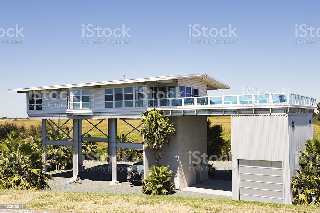 Home above ground royalty-free stock photo