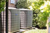 istock Home air conditioner unit in summer season. 1316651541