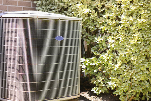 Home air conditioner unit in summer season. stock photo
