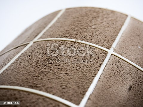 931591820 istock photo Home air conditioner's filter choke with fully of dust, dirty filter. 931592000