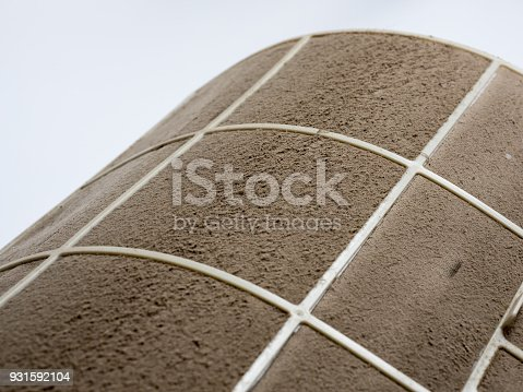 931591820 istock photo Home air conditioner's filter choke with fully of dust, dirty filter. 931592104